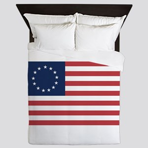 13 Star Colonial American Flag Queen Duvet